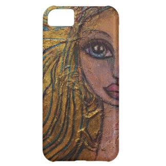 Steampunk Fairy Big Eye Art IPhone Case Metal Gold iPhone 5C Case
