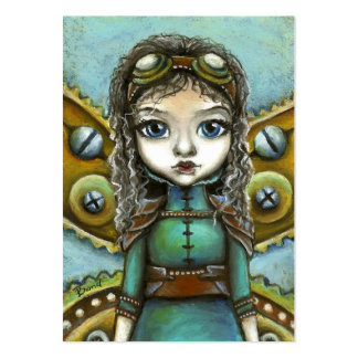 Steampunk fairy large business card