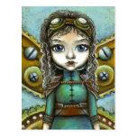 Steampunk fairy post card