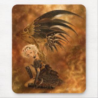 Steampunk Fallen Angel Mousepad