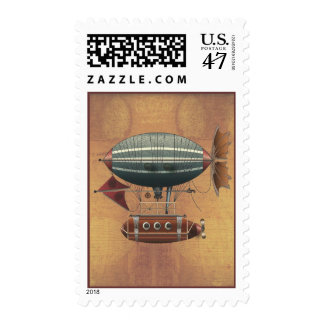 Steampunk Fantasy Airship Aleutian Maiden Voyage Postage