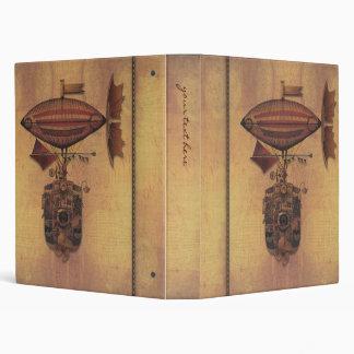 Steampunk Fantasy Airship Oceania Maiden Voyage Vinyl Binder