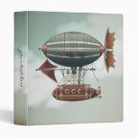 Steampunk Fantasy Airship Vintage Travel Binder