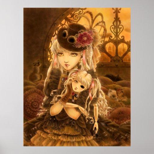 Steampunk Fantasy Art Poster