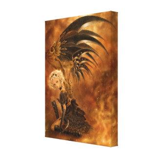 Steampunk Fantasy Canvas Print - Fallen Angel