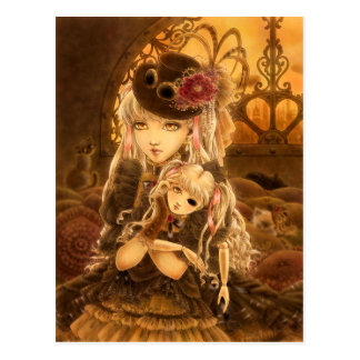 Steampunk Fantasy Postcard - Unless