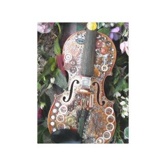 Steampunk Fiddle Canvas Print