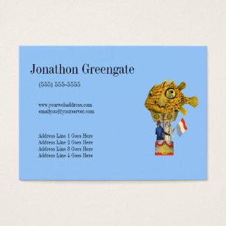 Steampunk Fish Balloon Profile Cards