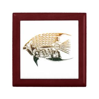 Steampunk fish giftbox jewelry box