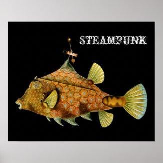 Steampunk Fish print