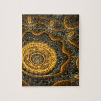 Steampunk flower jigsaw puzzle