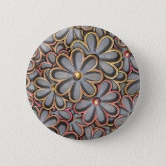 Steampunk Flower Power Button