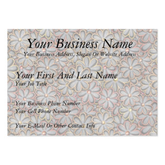 Steampunk Flower Power Large Business Card