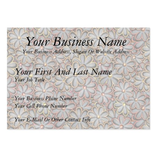 Steampunk Flower Power Large Business Cards (Pack Of 100)
