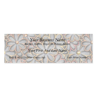 Steampunk Flower Power Mini Business Card