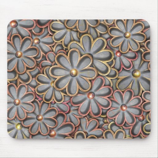 Steampunk Flower Power Mouse Pad