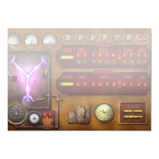 """Steampunk - flujo temporal invitación 5"""" x 7"""""""
