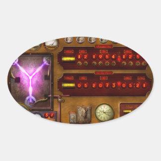 Steampunk - flujo temporal pegatina ovaladas personalizadas