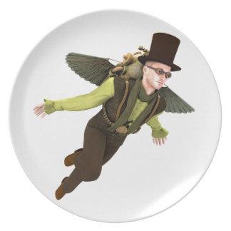 Steampunk Flyer Melamine Plate