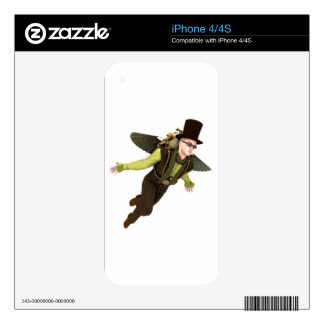 Steampunk Flyer Skin For iPhone 4