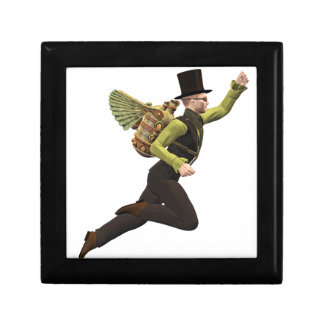 Steampunk Flyer Taking Off Gift Box