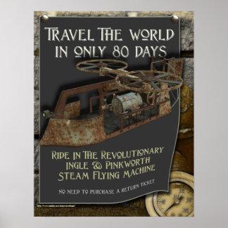 Steampunk Flying Machine Print