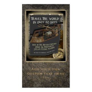Steampunk Flying Machine Social Profile Cards Business Card