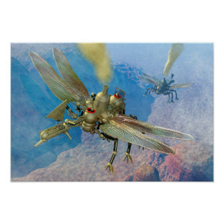 Steampunk Flying Machines Poster