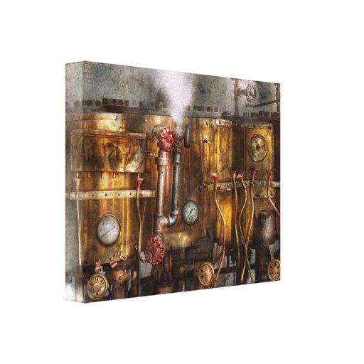 Steampunk - fontanería - aparato de Distilation Impresión En Lona Estirada