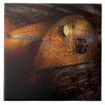 Steampunk - fontanería - el hogar de un fogonero azulejo
