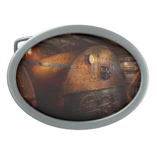Steampunk - fontanería - el hogar de un fogonero hebilla cinturon oval