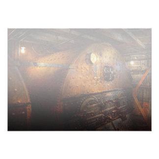Steampunk - fontanería - el hogar de un fogonero invitaciones personalizada