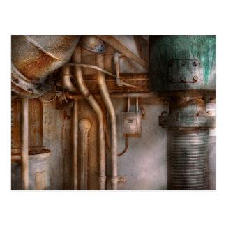 Steampunk - fontanería - extracto industrial tarjeta postal