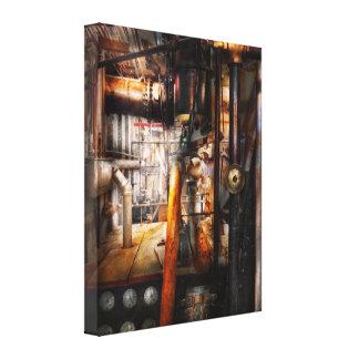 Steampunk - fontanería - tubos impresión de lienzo