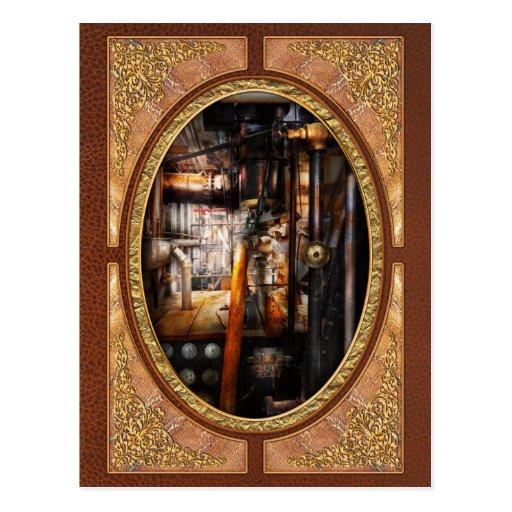 Steampunk - fontanería - tubos tarjeta postal