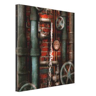 Steampunk - fontanería - tubos y válvulas lona envuelta para galerias