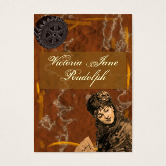 Steampunk ~ Foxy Lady ~ Vintage Style Business Card