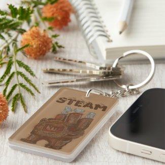 Steampunk Furnace Acrylic Keychain