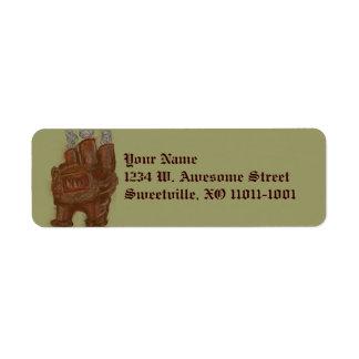 Steampunk Furnace, address labels