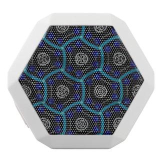 Steampunk Gadget Geometric Pattern White Bluetooth Speaker