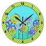 Steampunk Garden Wall Clocks