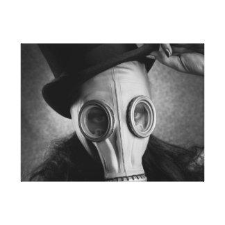 steampunk Gas Mask Girl Canvas Print