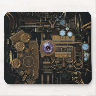 Steampunk Gauge Gear Camera Mouse Pad