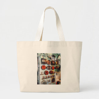 Steampunk - Gauges in Engine Room Large Tote Bag