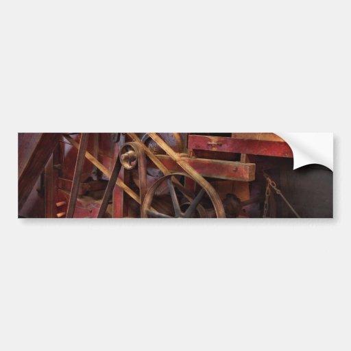 Steampunk - Gear - Belts and Wheels Bumper Stickers