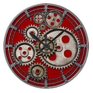steampunk gear cog engine vintage machine 2 clock