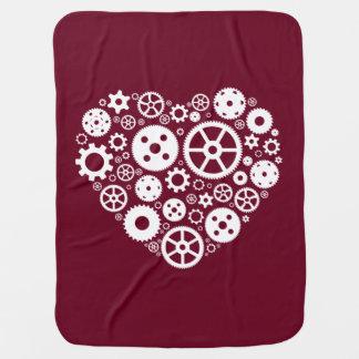 Steampunk Gear Heart Baby Blanket