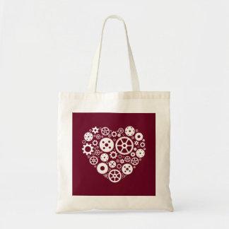 Steampunk Gear Heart Tote Bag