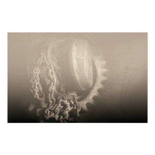 Steampunk - Gear - Hoist and chain Customized Stationery