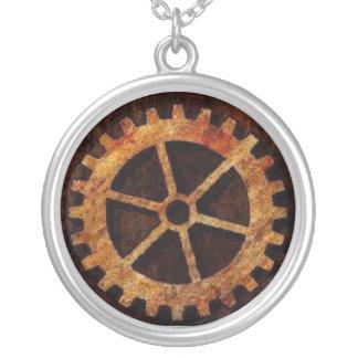 Steampunk Gear Neckalace Round Pendant Necklace
